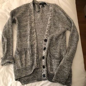 Forever21 Black and White Mix Button Down Cardigan